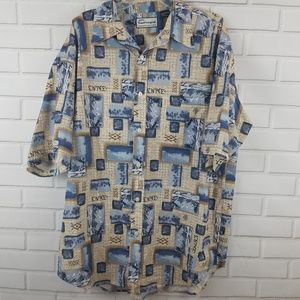 Enyce Short Sleeve Button Down Tropical Shirt